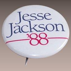 Jesse Jackson for President 1988 Pinback