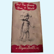"C 1954 Ginny Doll Booklet ""Now I Walk"""