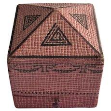 Fantastic Art Deco Era German Shargreen Style Paper Ring Box