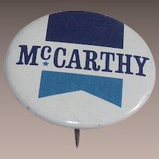 Eugene McCarthy for President 1968 Pinback