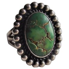 Southwestern  Green Turquoise Ring -  Earth Mined Stone