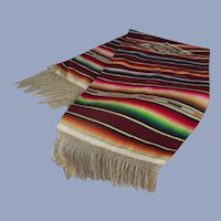 Classic Mexican Saltillo - Rug with long Fringe