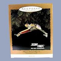 Hallmark 1994 StarTrek Klingon Bird of Prey with Light and Magic