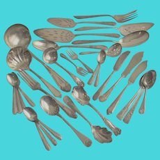 Mixed Collection of Thirty One Pieces of Rediscovered Chic Cutlery - Mostly Service Pieces