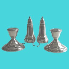 Sterling Silver S & P + Candlesticks
