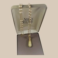 Nolan Miller Glamour Collection Vienna Pearl Pendant Necklace