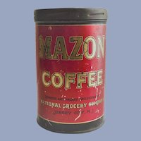 Mazon Coffee Tin  1926