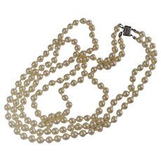 Double Strand of Glass Pearls 4MM