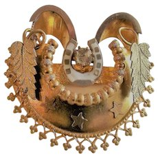 Victorian Brooch with Horseshoe - Good Luck