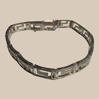 Sterling Silver Greek Key Line Bracelet
