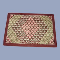 Vermont Shell Pattern Hooked Rug Hand Made with Provenience