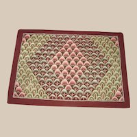Vermont Shell Pattern Hooked Rug Hand Made comes with Provenience