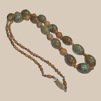 Wonderful Vintage Bead Necklace – Beach Colors