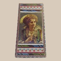 Victorian Handkerchief Box with Velvet Ribbon Trimming
