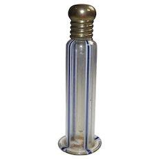 German Art Deco Era Ribbon Glass Perfume with Dauber