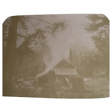 Vintage New Hampshire Maple Sugaring Photographs in Book C1900