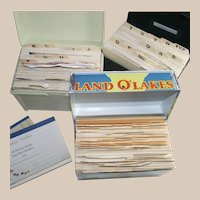 Three Full Recipe Boxes - Each is Full - One is Vintage Land O Lakes Box