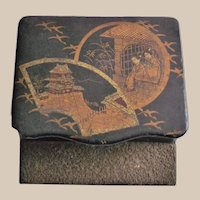 Chinoiserie Match Holder with Striker Pad