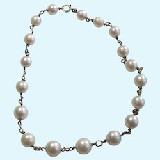Lovely Pearl Necklace for Your Doll  Two MM