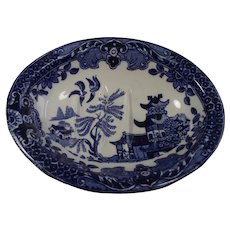Burleigh Ware Blue Willow Soap Dish