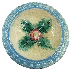 Majolica Flower with Four Leaves Ice Cream Dish