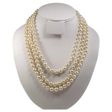 Jacqueline - Jackie - Kennedy Classic Three Strand Pearls by Camrose & Kross