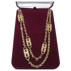 Jacqueline Kennedy Paperclip Necklace Designed by Coco Chanel from Camrose and Kross