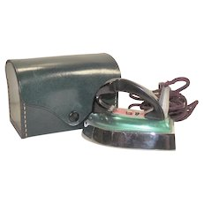 Vintage 1950s Clem Traveling Iron Metallic Green Finish Made In England