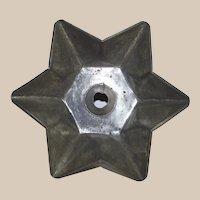 Vintage Tin Star Shape Food Mold Pan Rolled Edges