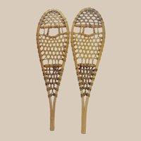 """Vintage Miniature Snowshoes - 17"""" Long - Possible Salesman's Sample"""