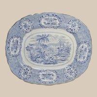 Ridgeway Oriental Blue and White Transferware Platter C.1891