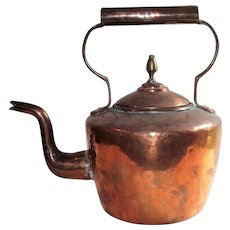 Hand Hammered Copper Nineteenth Century Water Kettle