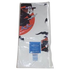 Halloween Crepe Paper Tablecloth Witches and Bats