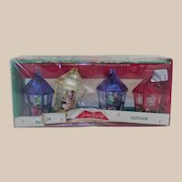 Vintage Jewelbrite Christmas Ornaments Dioramas with 4 Different Nativity Scenes In Box