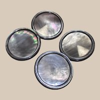 Four Lovely Large Abalone - Mother of Pearl Coat Buttons