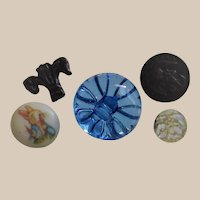 Five Piece Collection of Different - Nice - Buttons