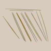 "Vintage 1920s Lot of Mixed ""Ivorine"" Celluloid Knitting Needles – One Crotchet Needle"