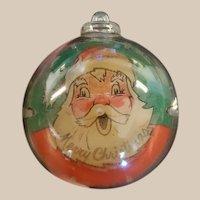 Mid Century Merry Christmas Santa Flicker Ornament.