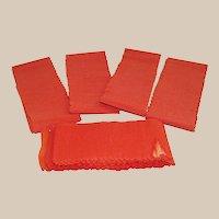 Vintage Halloween Unused Orange Crepe Paper Streamers