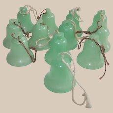 Vintage Glow in The Dark Christmas Bells