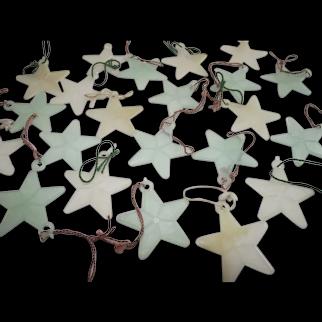 Vintage Glow in The Dark Christmas Stars Twenty Two Pieces
