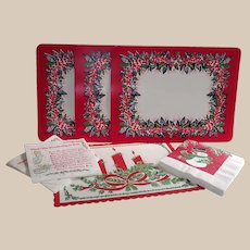 Vintage Mid Century Mixed Collection Of Christmas Place Mats and Napkins
