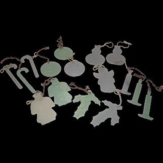 Mixed Lot Mid Century Glow in the Dark Hard Plastic Ornaments