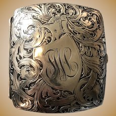 William B. Kerr Sterling Silver Cigarette Case - Wonderful Chased Detail - c. 1900