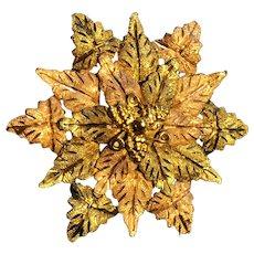 Three Color Black Hills Gold Pin Pendant - 10K & 12K Golds