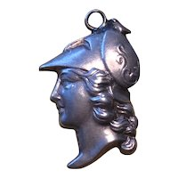 Sterling Silver Charm / Fob of a Trojan Soldier