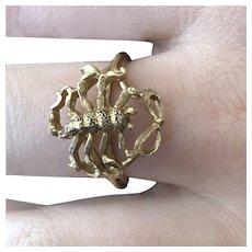 Scorpio Ring 14K Gold - Size 7