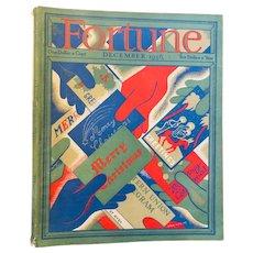 Wonderful FORTUNE Magazine - December 1936