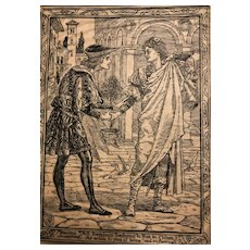 "Set of Eight Illustrations for ""Two Gentlemen of Verona"" by Walter Crane - 1894"