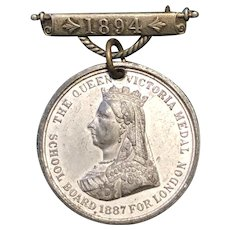 The Queen Victoria Medal from 1894 for School Attendance
